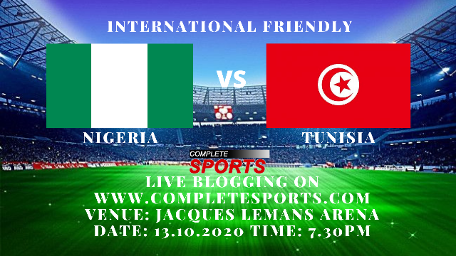 Live Blogging: Nigeria Vs Tunisia (International Friendly)