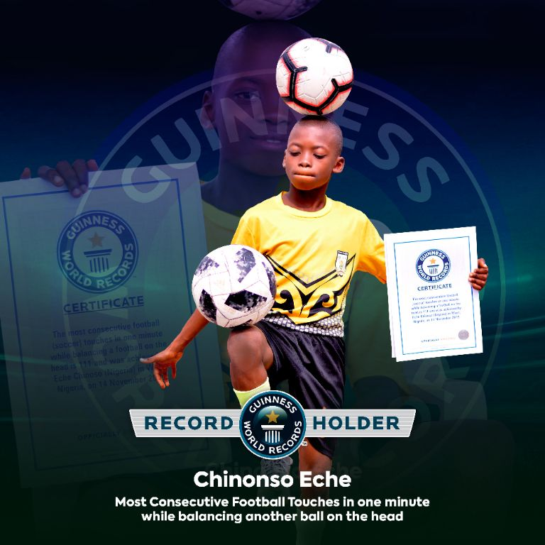 Freestyle Football: Eche – The Prodigy Is Guinness World Record Holder Nigeria Should  Celebrate