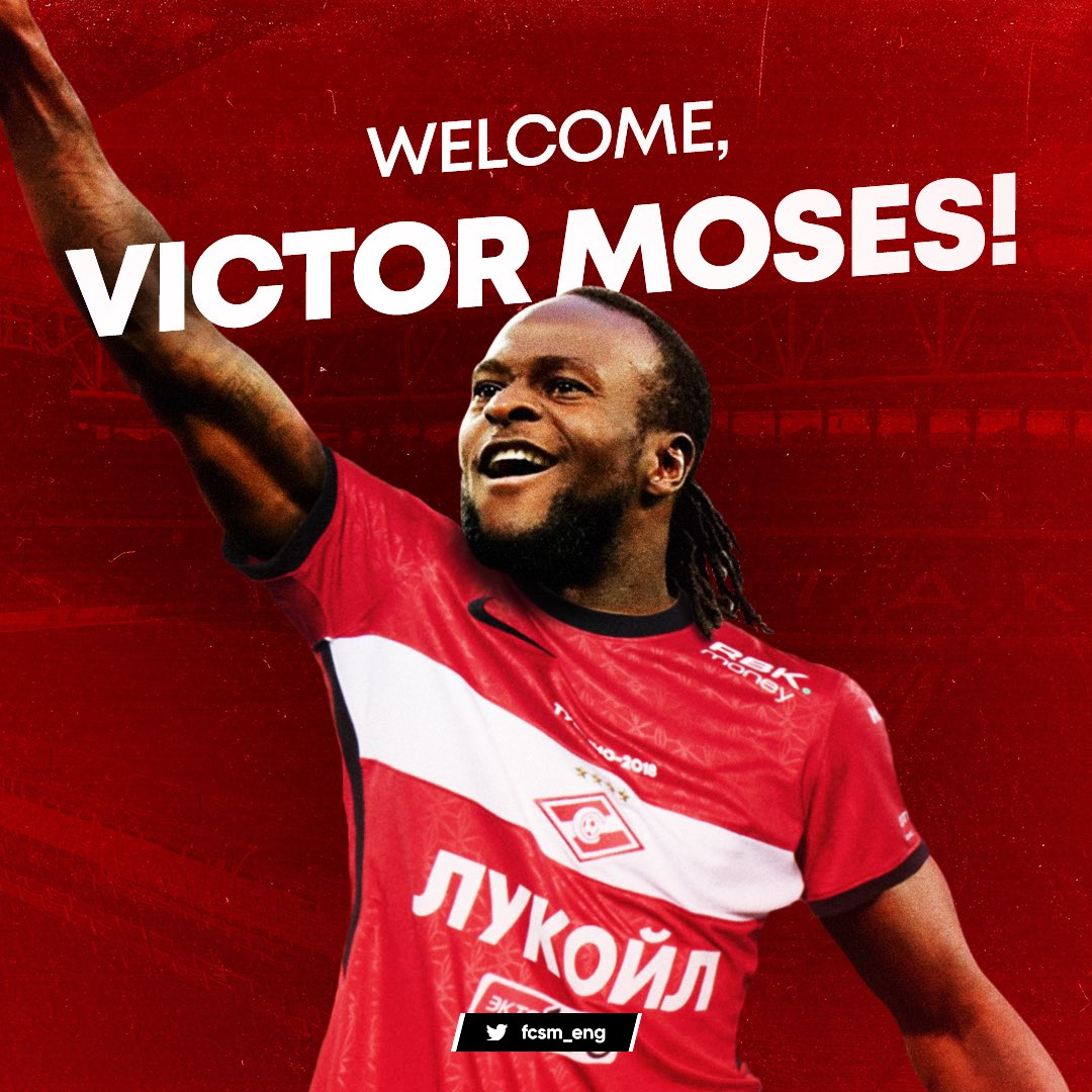 Moses Ready For Fresh Start  At Spartak Moscow