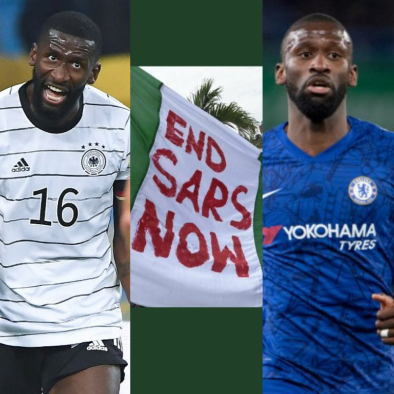 Chelsea Defender Rudiger Remonstrates Over Killing Of Peaceful #EndSARS Protesters