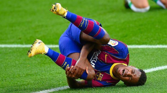 Barcelona's Fati Out For Four Months After Knee Surgery