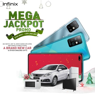 Hit The Infinix Global Jackpot And You Might Win A Brand New Car!