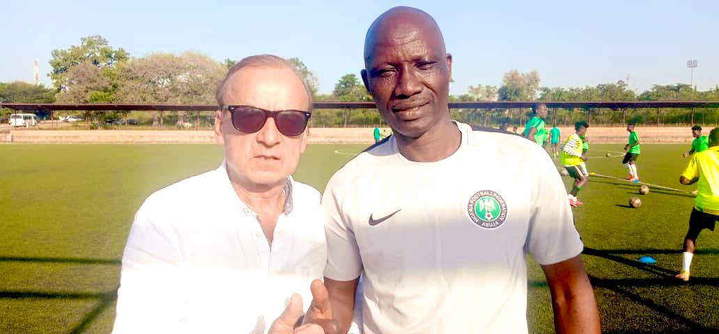 Rohr Visits Flying Eagles Camp Ahead WAFU Nations Cup