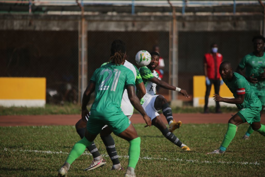 2022 AFCON Qualifier: Super Eagles,  Leone Stars Draw In Freetown; Nigeria Still  Top Group L