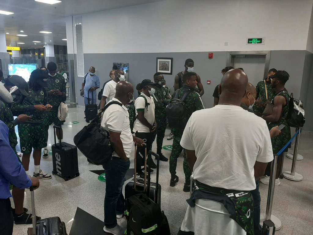 2021 AFCON Qualifier: Super Eagles Arrive Nigeria After Draw Away To Sierra Leone