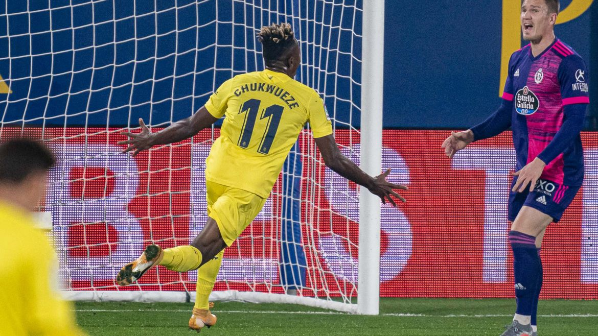 Eagles Roundup: Chukwueze Ends Laliga Goal Drought In Villarreal's Win Vs Valladolid; Iheanacho Benched As Leicester Thrash Leeds Away