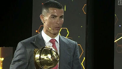 Cristiano Ronaldo named PLAYER OF THE CENTURY at Globe Soccer Awards
