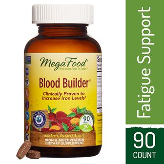 MegaFood, Blood Builder, Iron Supplement, Support Energy and Combat Fatigue