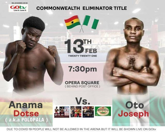 Boxing: Nigeria's Joseph To Face Dotse Of Ghana For Commonwealth Eliminator Title In Accra