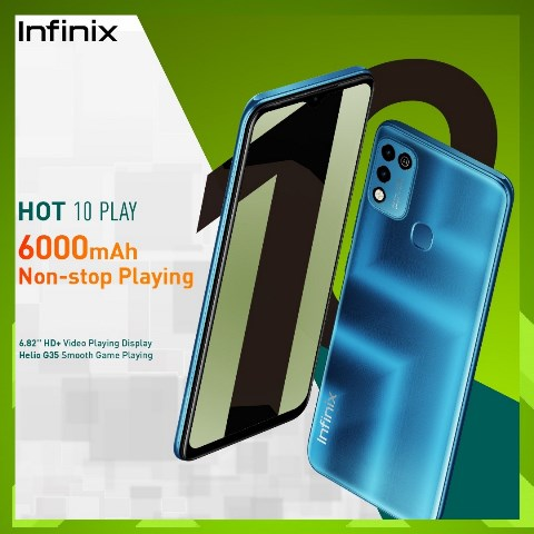 The New Infinix HOT 10 play Guarantees An Extended Fun Experience With A 6000mAh Battery