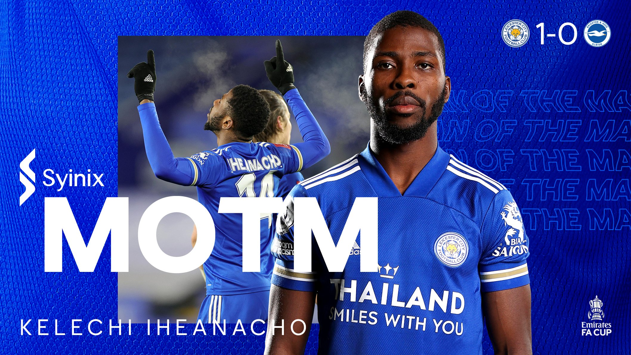 Goal Hero Iheanacho Voted Leicester's Man Of The Match Vs Brighton