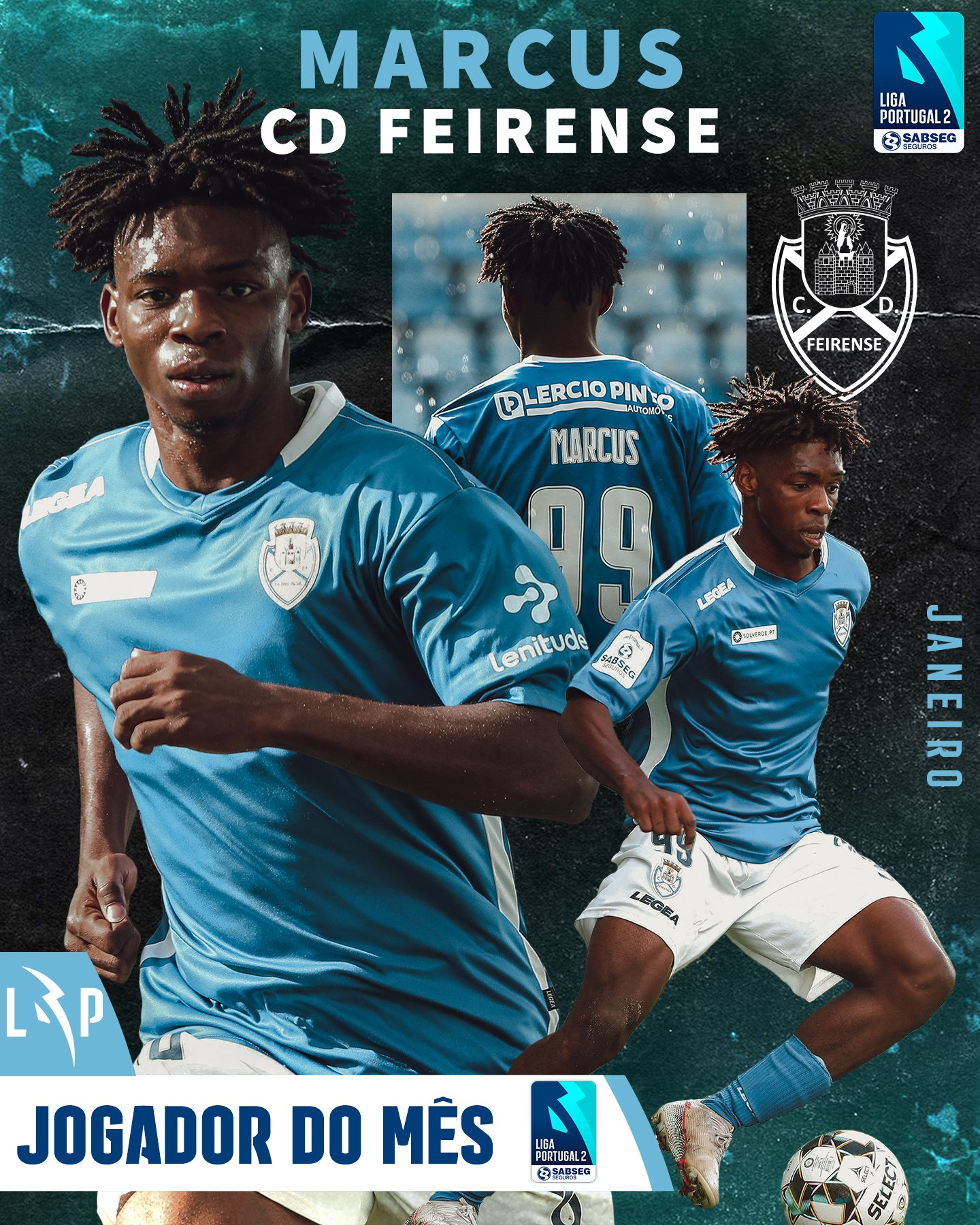 Nigerian Striker   Marcus Named Portuguese Liga 2 Player Of The Month For January