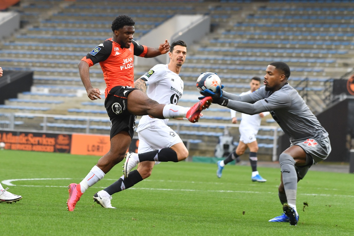 Ligue 1: Moffi Bags Assist In Lorient Heavy Home Defeat To Lille