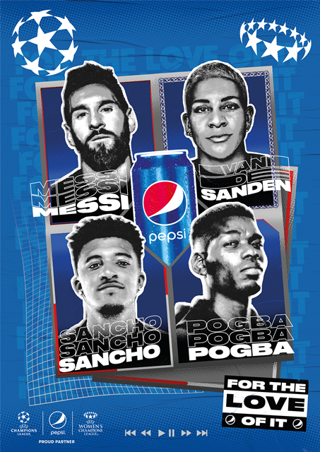Epic! Pepsi Launches New Global Campaign Featuring Messi, Pogba And A UCL Theme Song By Becky G And Burna Boy